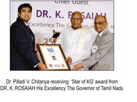 Texilian Dr.Chaitanya receive felicitation from DR. K. Roasaiah