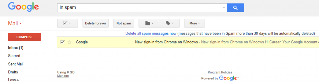 Removing-mail-from-Spam