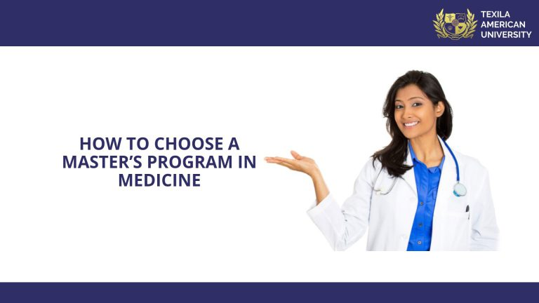 How to Choose a Masters program in Medicine
