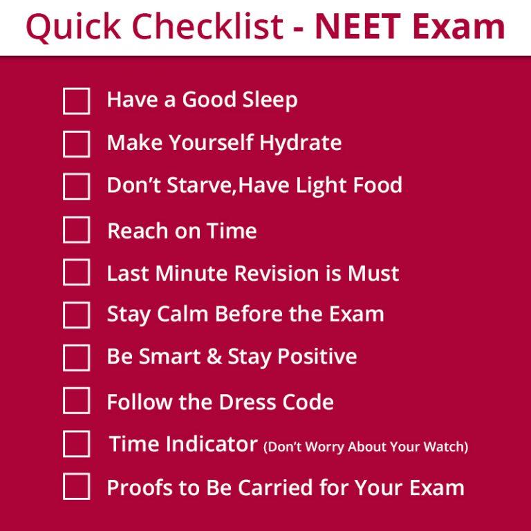 NEET-checklist
