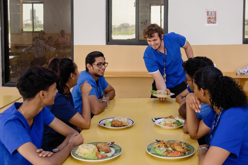 Students-intaking-Food-in-Hostel