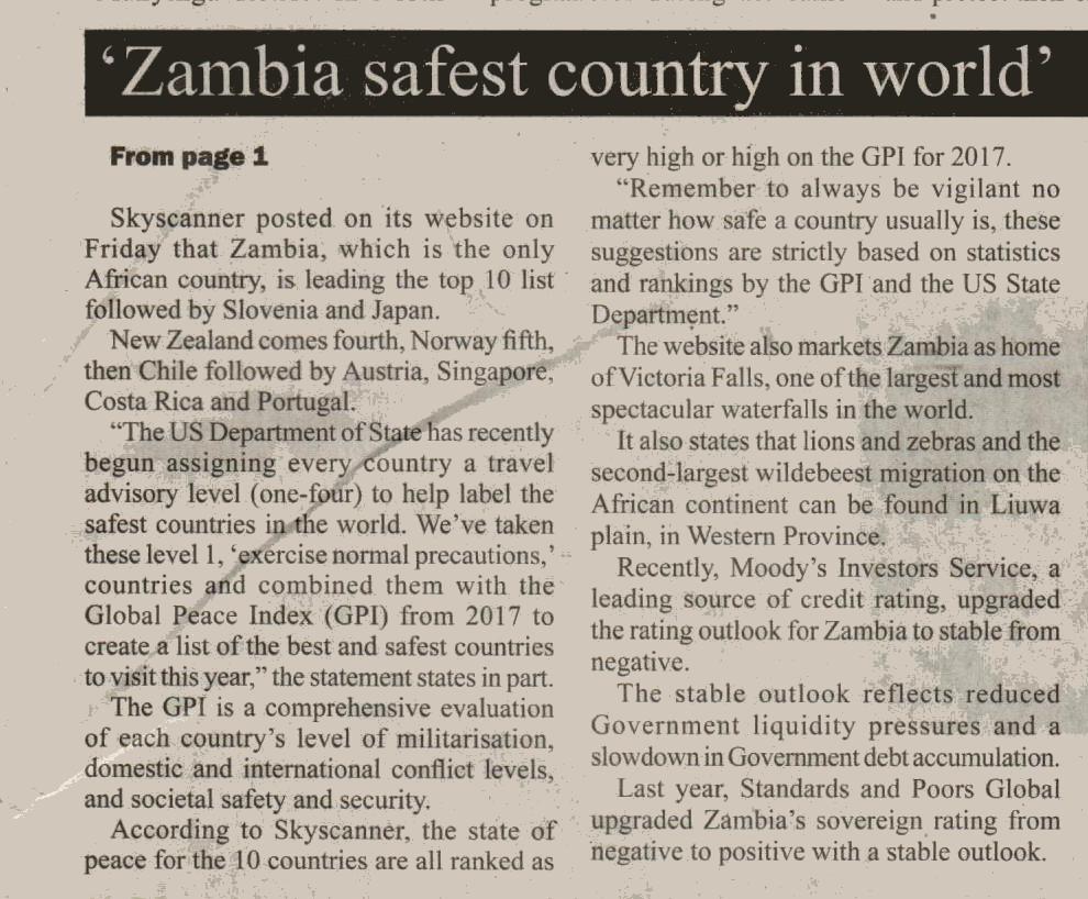 Zambia-daily-newspaper