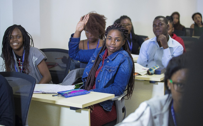 Medical University classroom in zambia