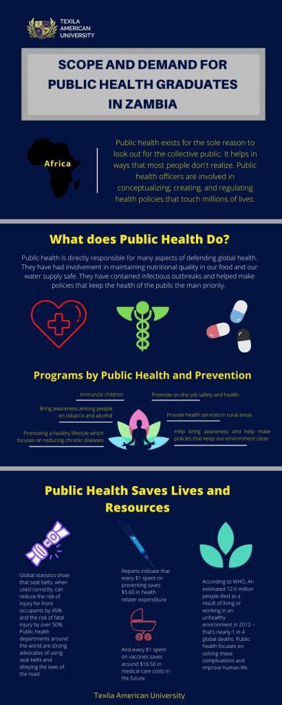 Demand for public health graduates in Zambia